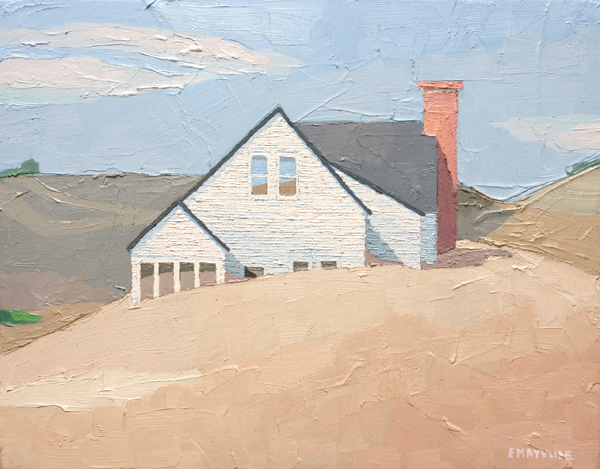 Dune House 3   2017 oil on canvas 11 x 14""