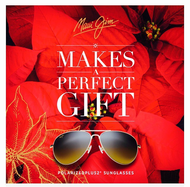 Looking for the perfect Christmas Gift? The mirrored finish on MauiJim sunglasses reduces overall reflection while the polarization reduces glare on snow and water . . .  #mauireflect #advantage  #perfect #christmas #gifts