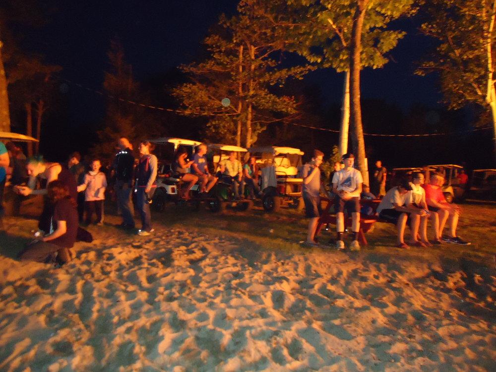 Dances at the beach