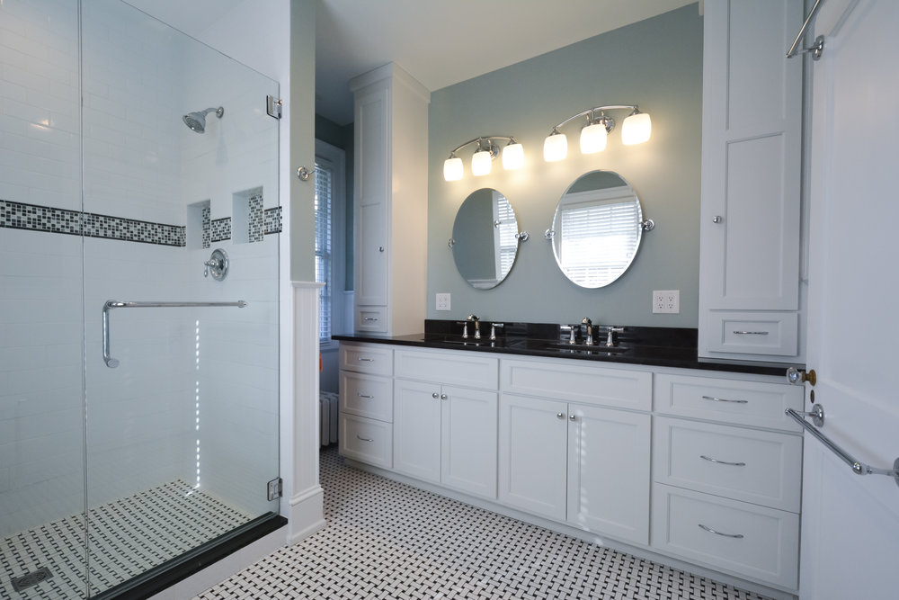 The Allins' first project with Tower 3: Master bathroom remodel in 2016
