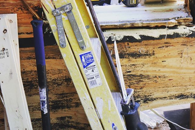 Sledgehammer + sawzall = the start of a fun-filled demo day! #renovation #generalcontractor #rvacontractor #boyswhobuild #demoday