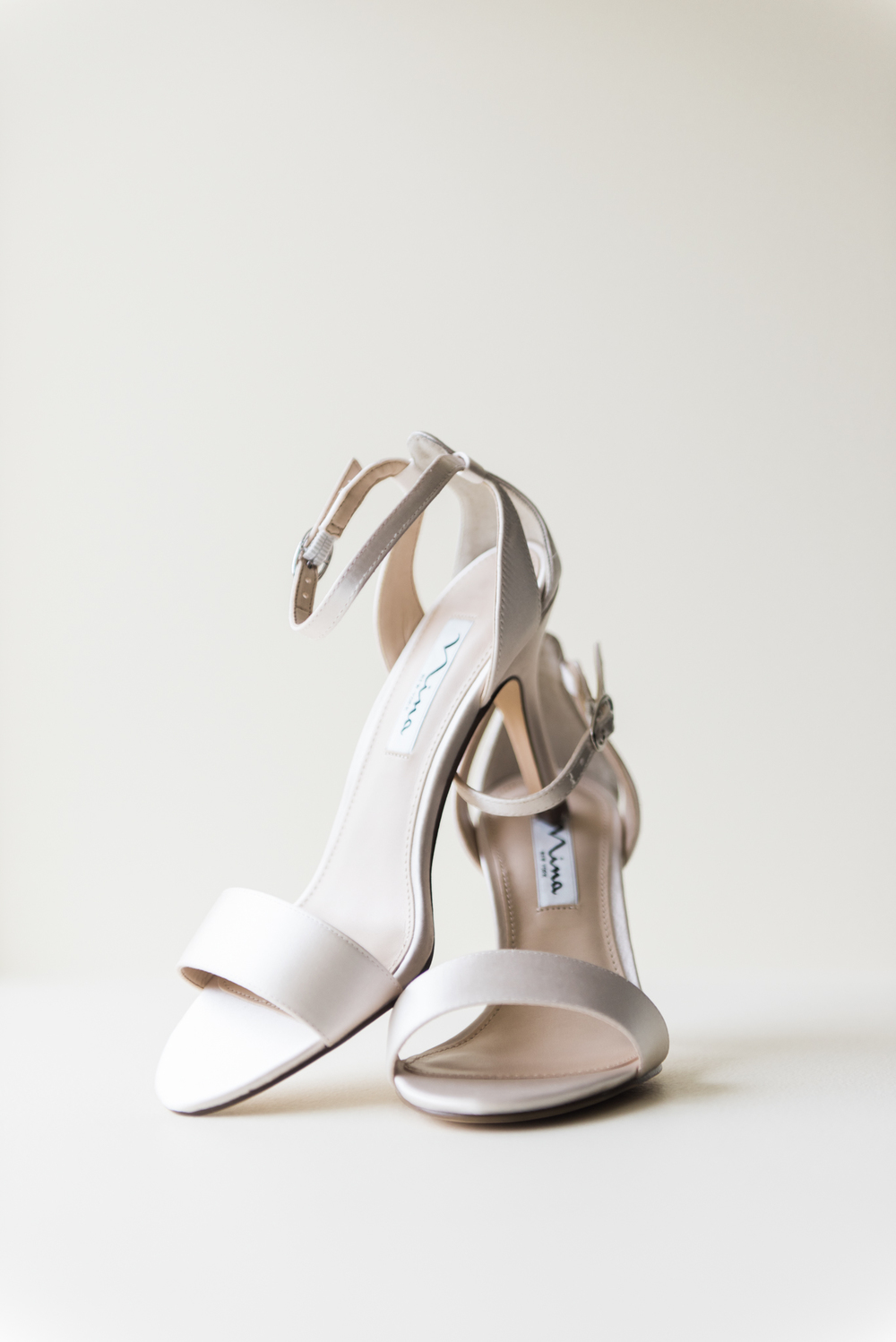 wedding shoes of bride