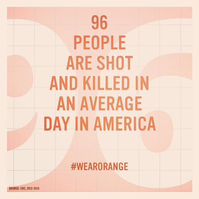 #WearOrange tomorrow to show your support/outrage/commitment/solidarity/passion for the movement to create common sense gun laws. That's all. #nobiggie