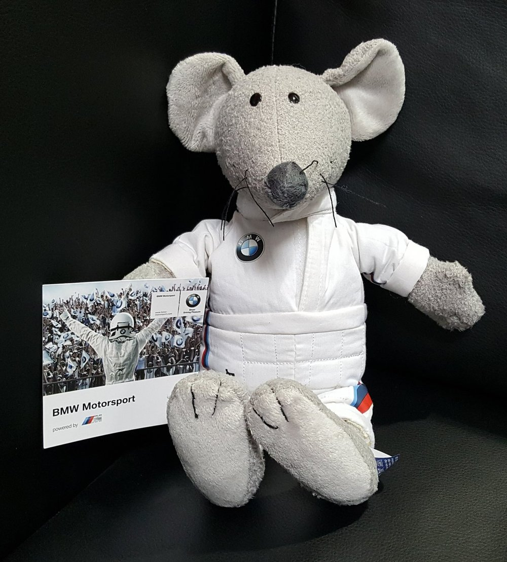 "BMW Motorsport racing mouse ""victor"" Donated by  BMW of Fremont. 5 winners. Estimated value: $32."