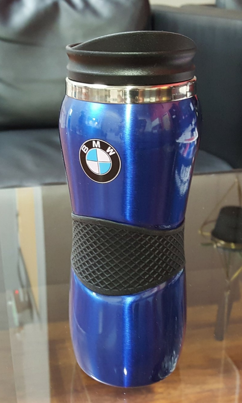 bmw travel mug Donated by  BMW of Fremont. 1 winner. Estimated value: $21.