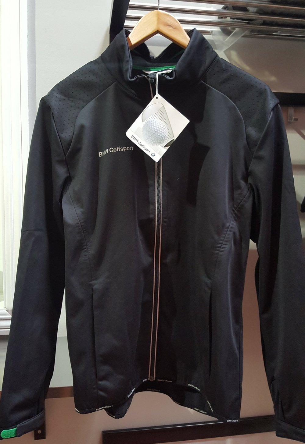 bmw golfsport softshell men's jacket XL Donated by  BMW of Fremont. 1 winner. Estimated value: $120.