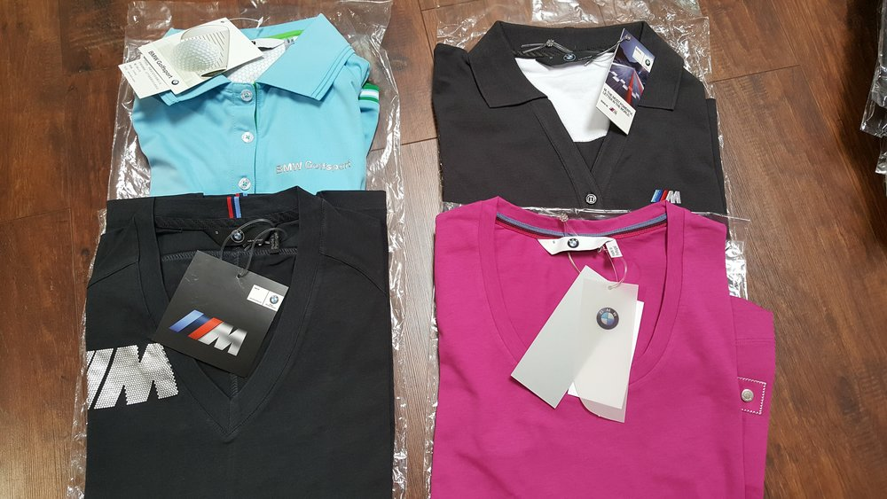 various bmw women's apparel Donated by  BMW of Fremont. 4 winners. Estimated value: $30-60.