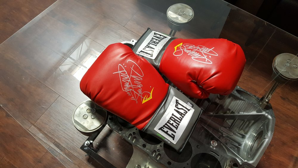 one boxing glove signed by manny pacquiao  Donated by Jonathan Chu & Jason Aniel. 1 winner. Estimated value: $300-700.