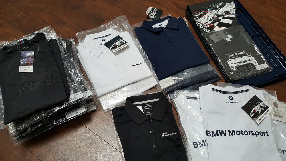 various bmw men's apparel Donated by  BMW of Fremont. 32 winners. Estimated value: $30-60.