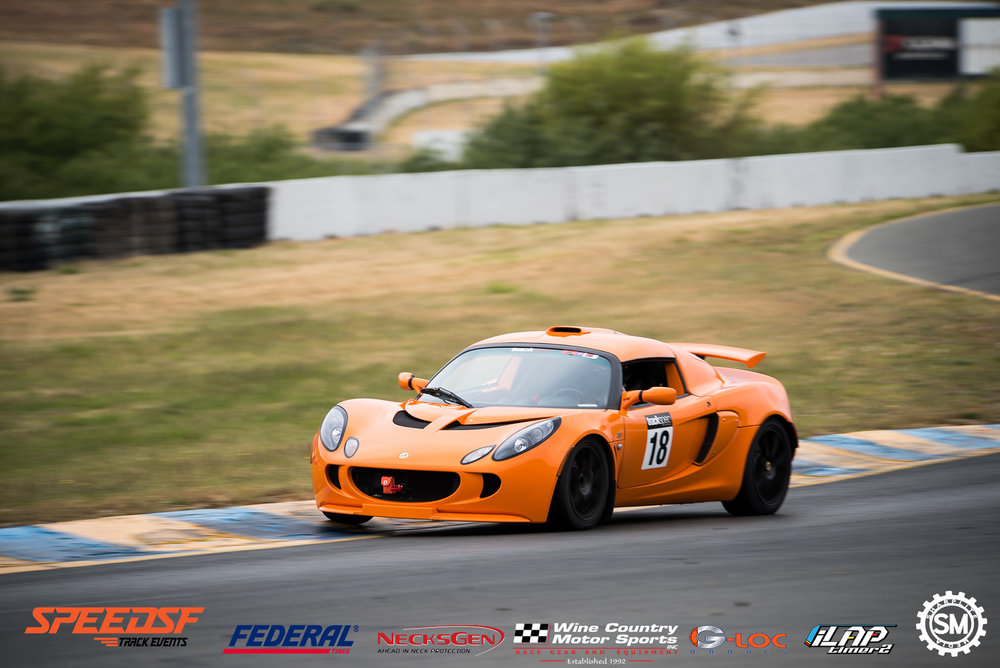Lotus Exige Sonoma Raceway Trackspec Autosports