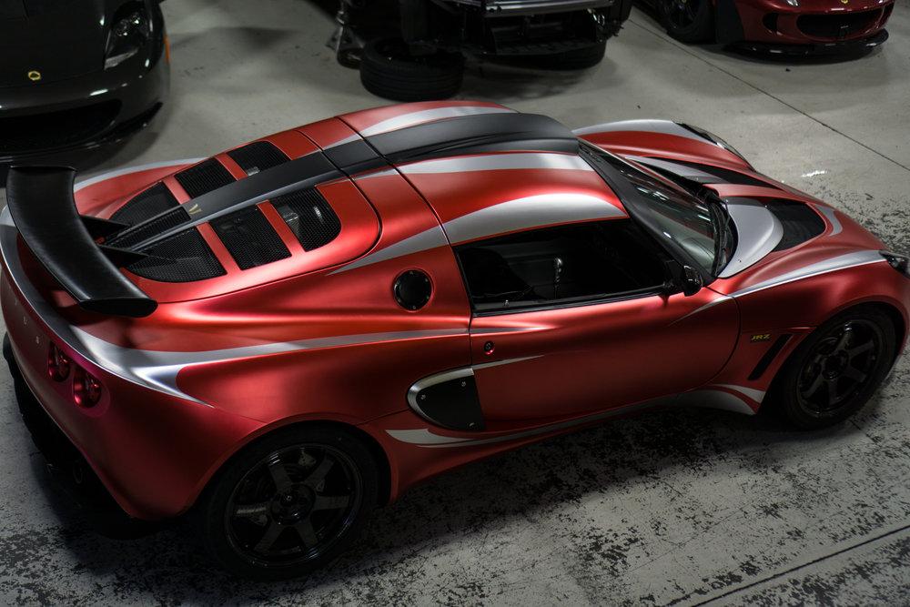 Lotus Exige Trackspec Autosports Teckwrap Strawberry