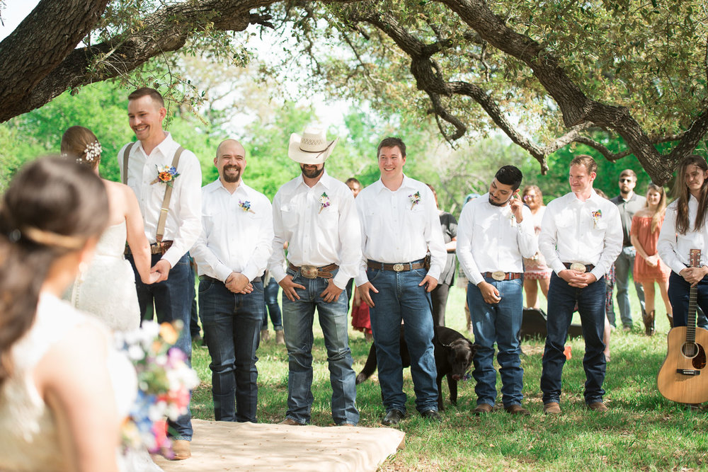42 Groomsmen ligned up during wedding ceremony.jpg