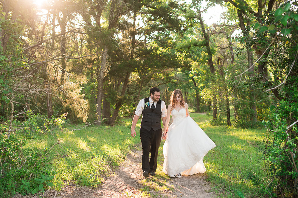 127 la grange forest wedding during golden hour.jpg