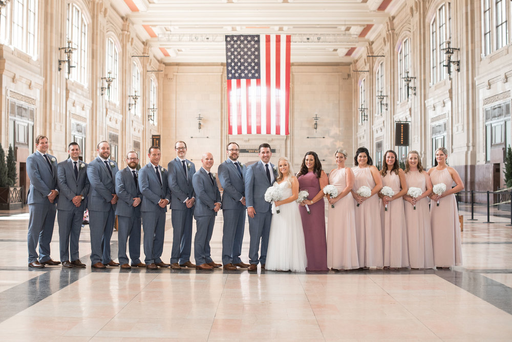 66 bridal party photography at Union Station in KC.jpg