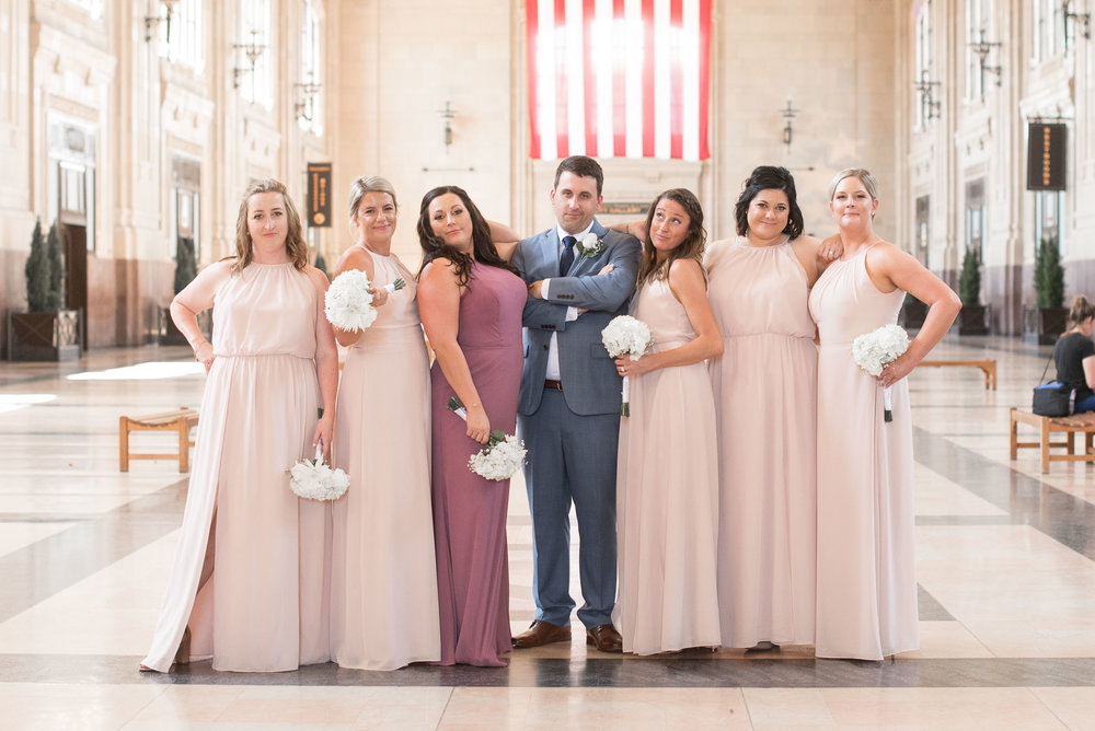 70 Wedding party ideas groom with bridesmaids.jpg