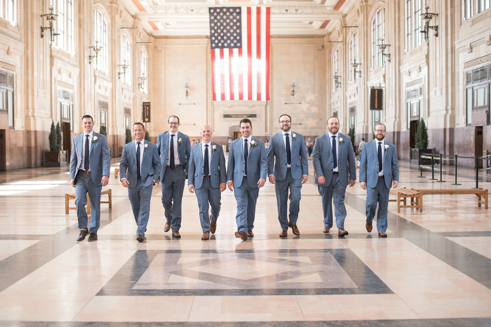 74 groomsmen walking pose indoor wedding photography.jpg
