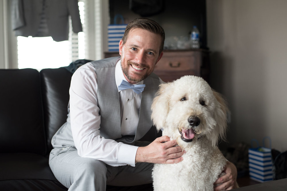 33 groom and dog ring bearer at wedding.jpg