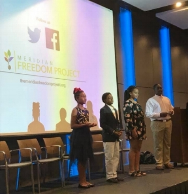 Freedom Fellows on stage at our film premiere at the Mississippi Civil Rights Museum in Jackson on September 15, 2018.