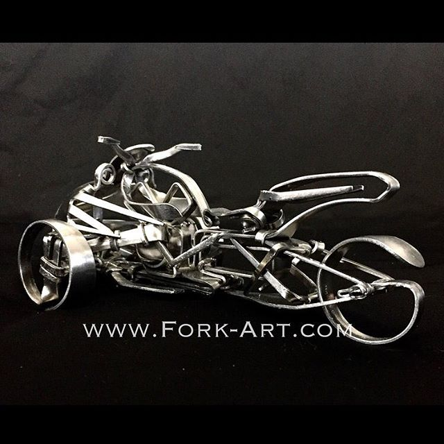 A #studioshot of the new #canam #spyder that is available now on our website #itcouldbeyours #canamspyder #canamlife #canamnation #canammotorsports #motorcycle #motocyclelife #motorcycleclub #motorcycleporn #stainlesssteel #metal #metalart #motorcyclephotography #motorcyclelove #roadbike #forkart #forkartgetbent #sculpture