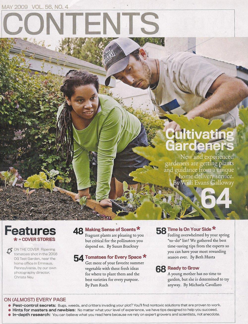 Organic Gardening Magazine, 2009