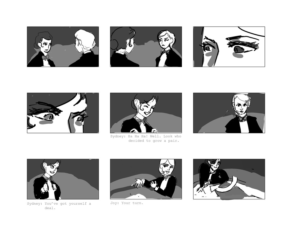 High Stakes Storyboard