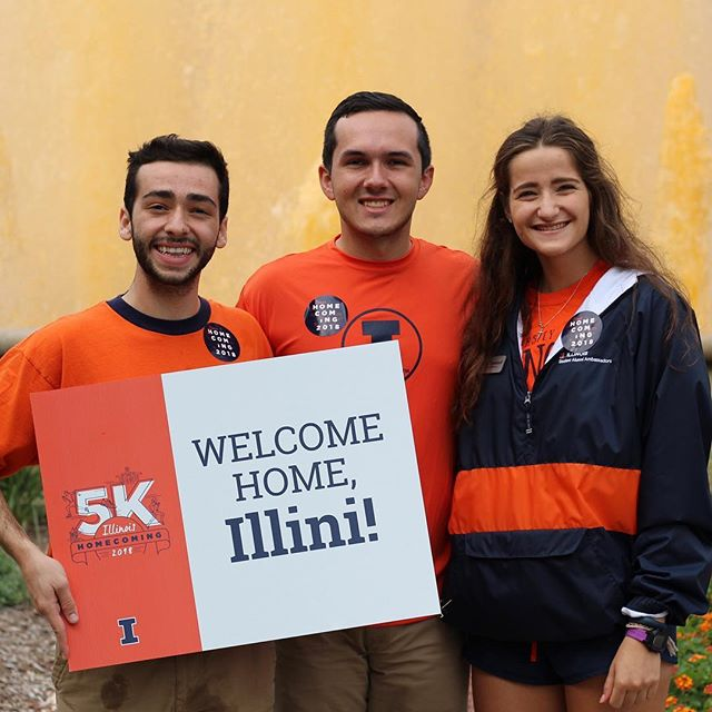 We got #ILLINOIShomecoming off to a running start this morning! Thank you to Ally, Emily and Sean for planning the most amazing 5K event!