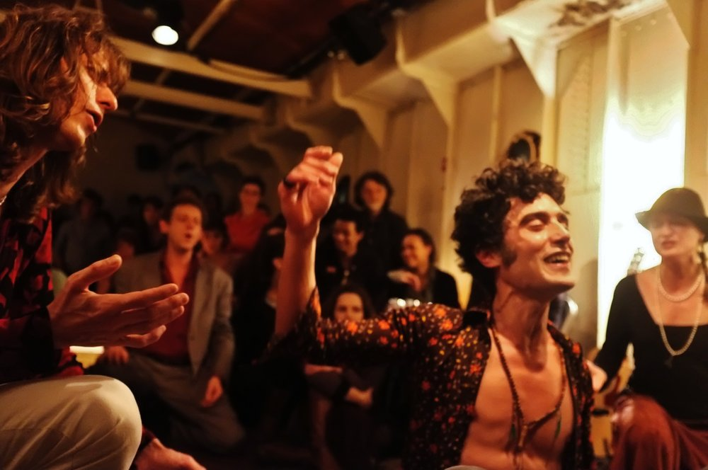 THE WORK CENTER'S ELECTRIC PARTY SONGS OCTOBER 2015  - A flow of poetry in song and action presented by The Workcenter of Jerzy Grotowski and Thomas Richards.