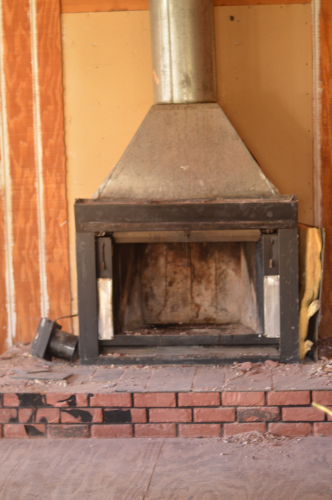 Renovation Diary Prefab Fireplace Removal Ruralie