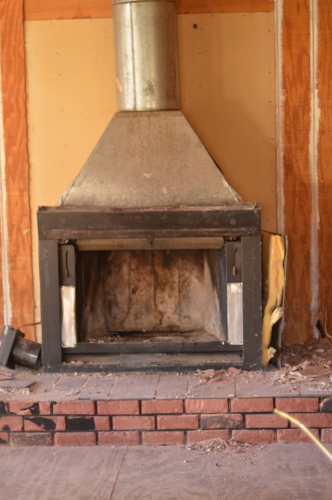 prefab fireplace removal