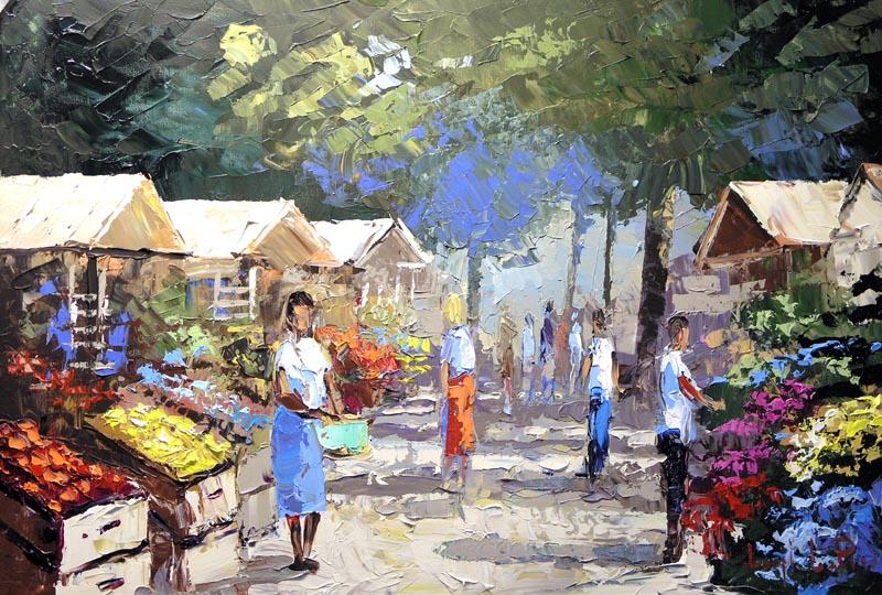 """""""Farmers Market"""" - 24x36 - $3,200.00"""