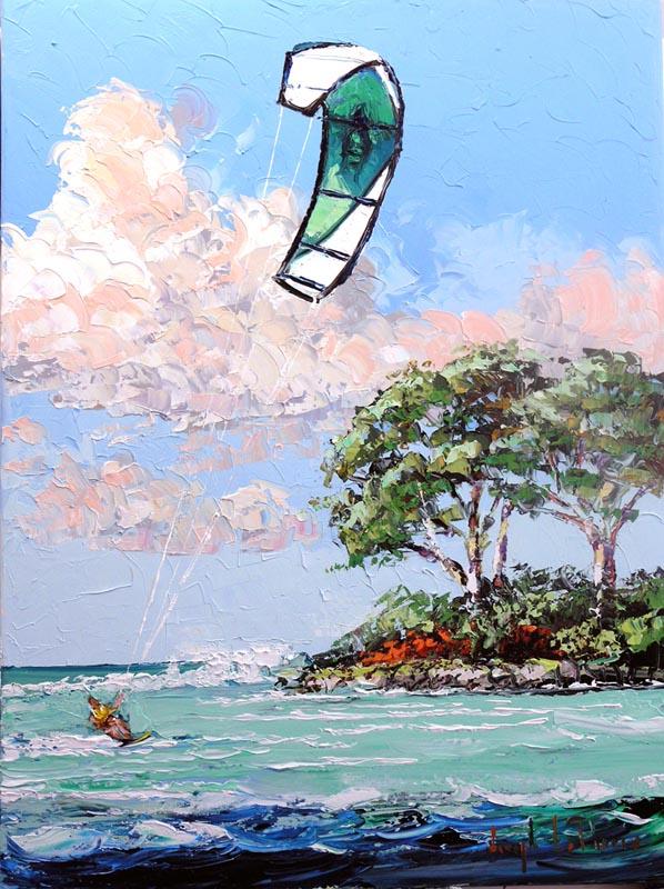 """""""Kite Boarding"""" - 34x40 - $3,200.00"""