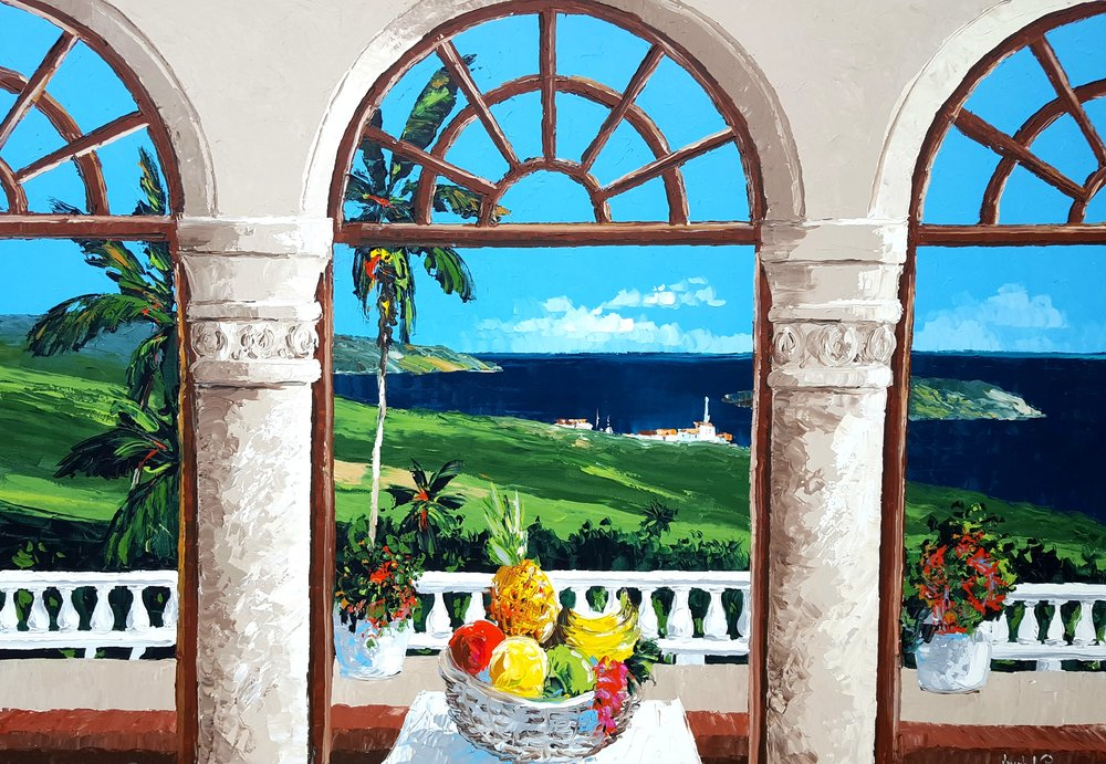"""Tropical Arches"" - 54x80 - $9,400.00"