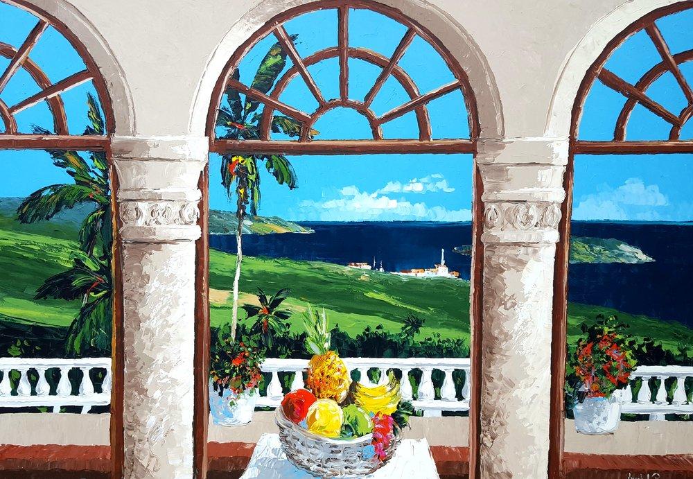"""Tropical Arches"" - 54x80 - $9,400.00"