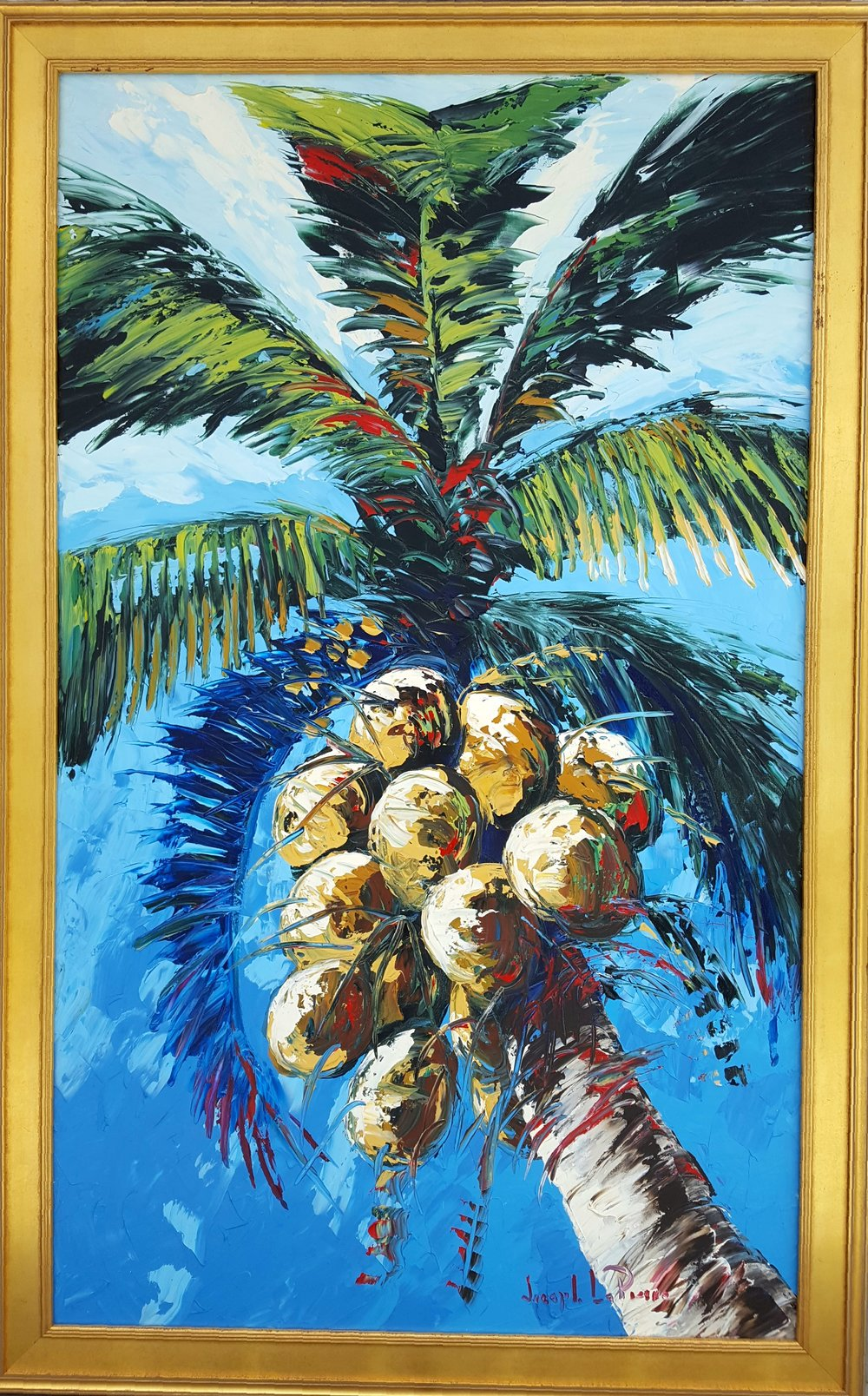 """""""Bold Coconuts"""" - 36x60 - $5,200.00"""