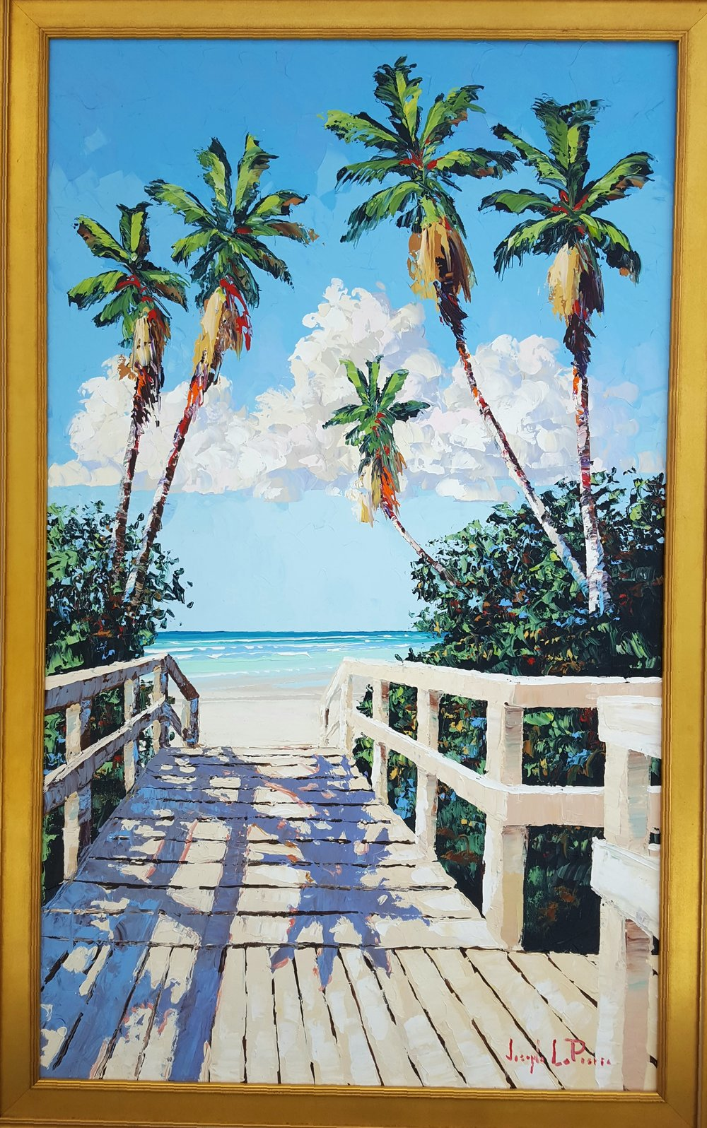 """Beach Boardwalk"" 36x60 Sunfest Commemorative Poster 2010 - $5,200.00"
