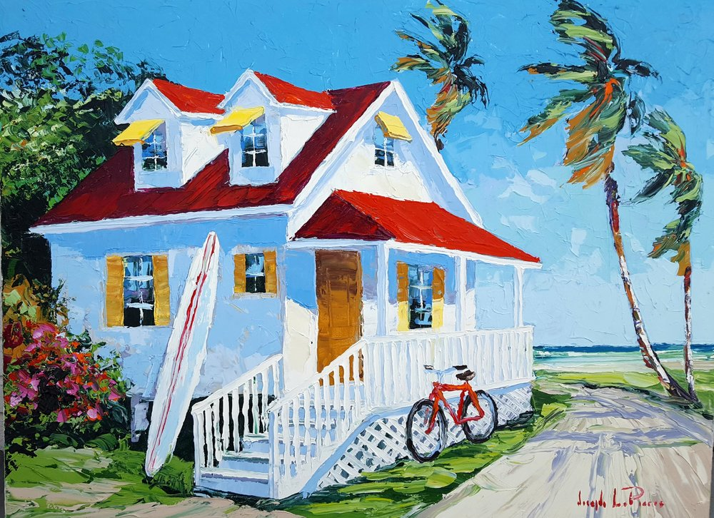 """Coastal Cottage"" - 30 x 40 - $3,200.00"