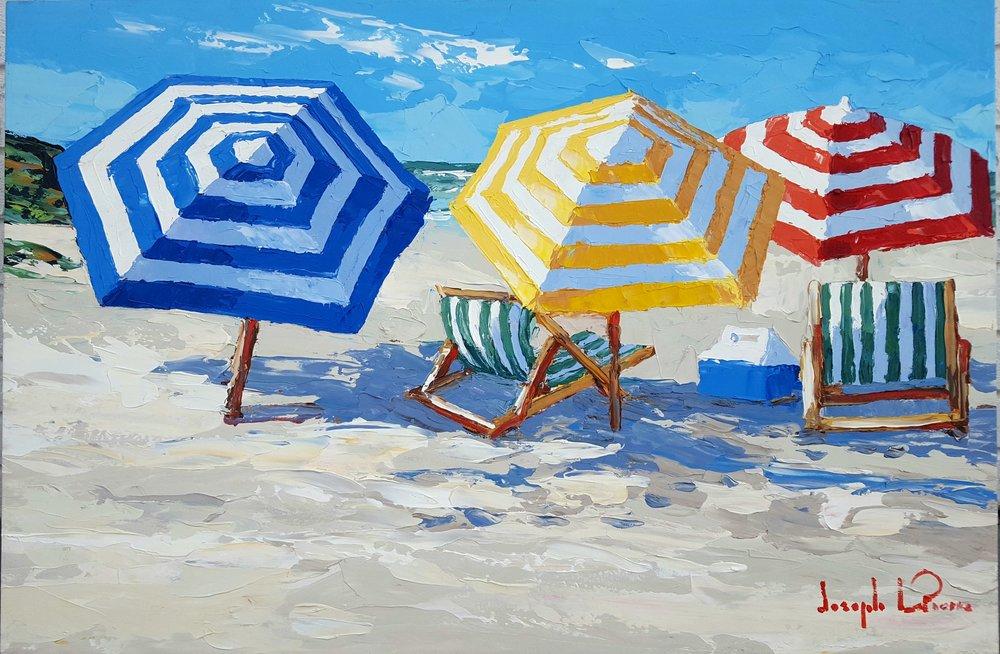 """""""spring Beach"""" - 24x36 - $2,800.00"""