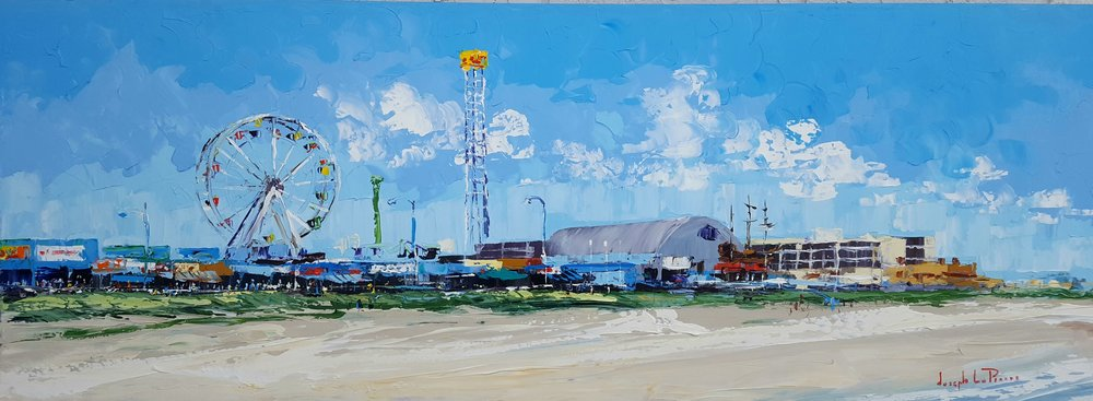 """Double Shot"" - 24x36 - Ocean City, NJ Boardwalk - $4,000.00"