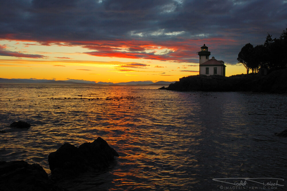 Lime Kiln Lighthouse Sunset