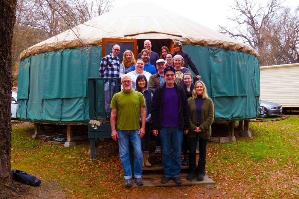 George and the gang on The Meaningful Life Retreat