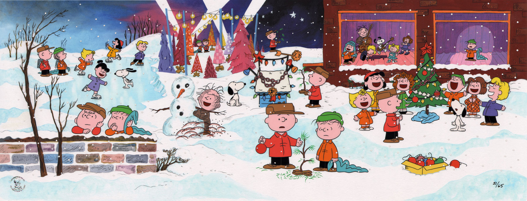 Charlie Browns Christmas.Comic Mint Animation Art Charlie Brown S Christmas Celebrating 50 Years Of Joy And Wonder