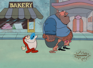 comic mint animation art the ren stimpy show fake dad 1993