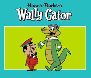 comic mint animation art wally gator title cel 1962