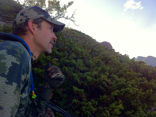 Bill contemplating his next move in the Colorado high country.