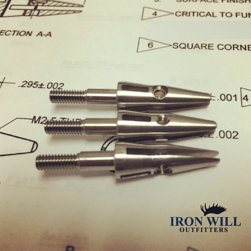 Checking ferrule tolerances, and assembling  #broadheads for customers.
