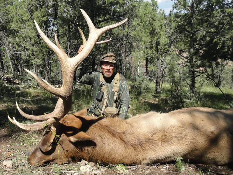 Alan Scott with his 2017 archery bull elk, shot with an Iron Will Broadhead.