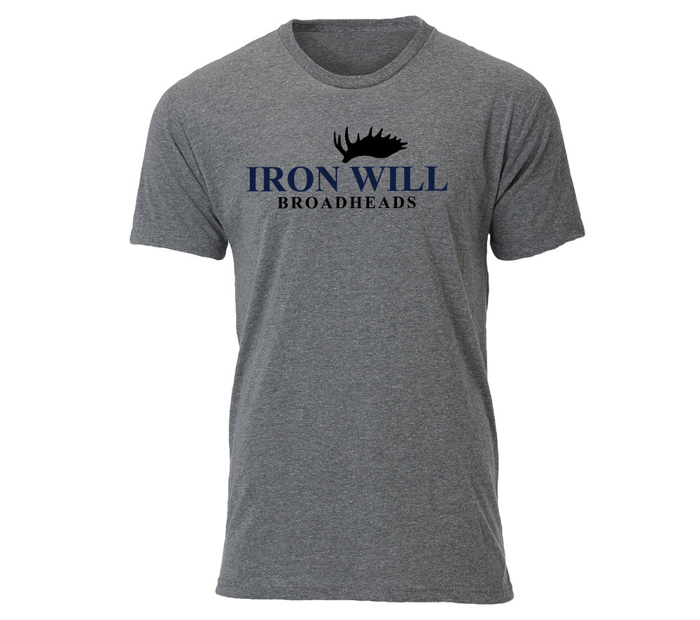 Iron Will Logo T-Shirt - Grey - $24.95