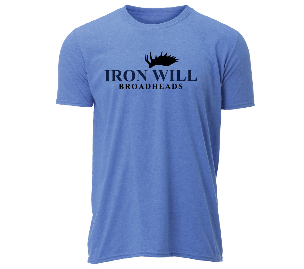 Iron Will Logo T-Shirt - Blue - $24.95
