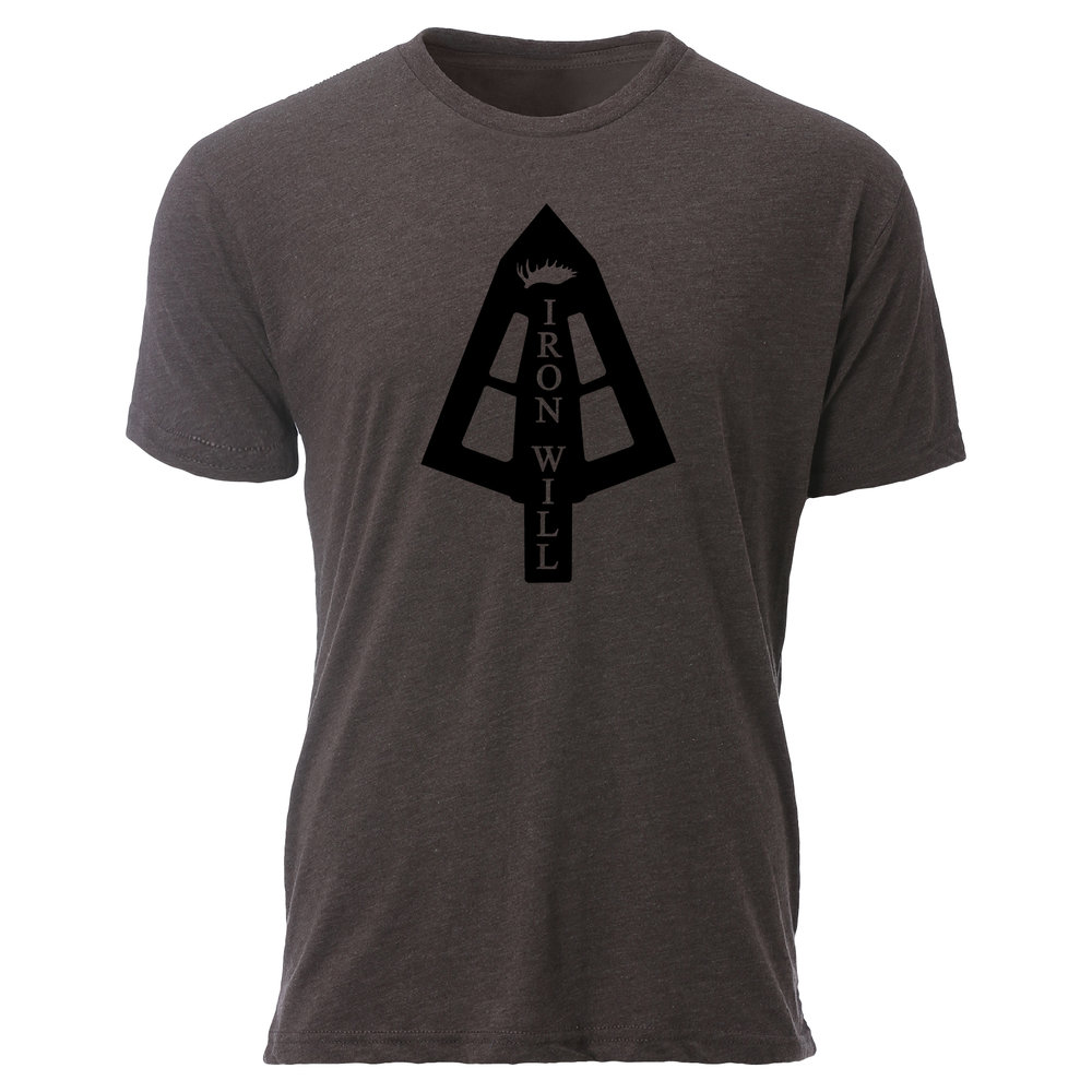 Iron Will Broadhead T-Shirt - Brown - $24.95
