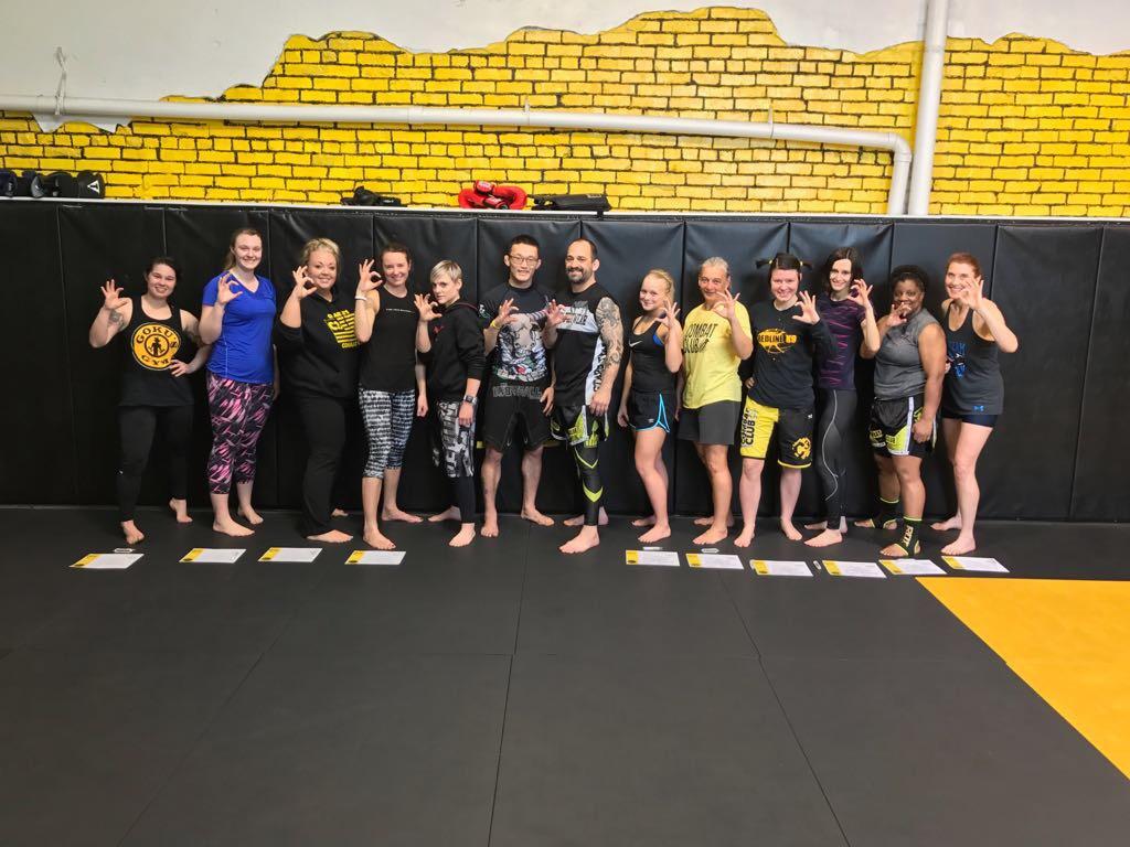Charlies Combat Club Ladies Of C3 Earn Their Level 1 Kickboxing